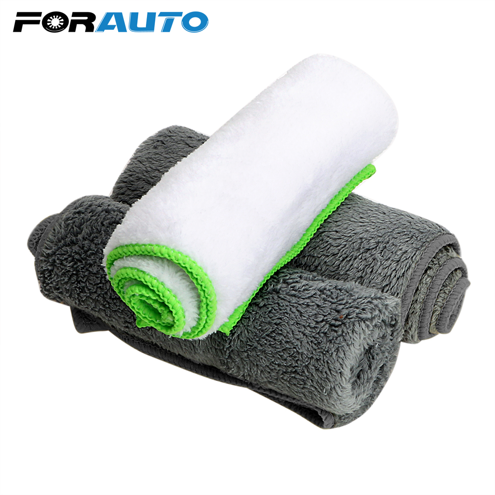 FORAUTO Car Wash Towel Ultra Soft Microfiber Cloth Auto Care Detailing Cleaning Tool for Car Wax Polish Car-styling Accessories