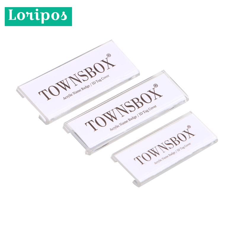 Pin Id Employee Name Acrylic Card Holder Magnet Badge Tag Holder Safety Magnetic Badge Fasteners ID Tag Clip Tag Holder Badge