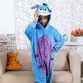Los Niños calientes Pokemon Pikachu Dinosaurio Onesie Niños Niñas Warm Soft Cosplay Pijamas de Una Pieza ropa de Dormir Disfraces de Halloween