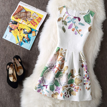 Hot New Bottoming Beach Dresses Women Summer Flower Printed Dress Vintage Sexy Party Vestidos Female Mini Boho Clothing Bodycon