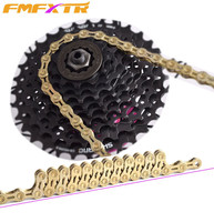 High Quality Durable Gold Golden Chain 9 10 11 Speed 116 Links Hollow Mountain Bike Chain