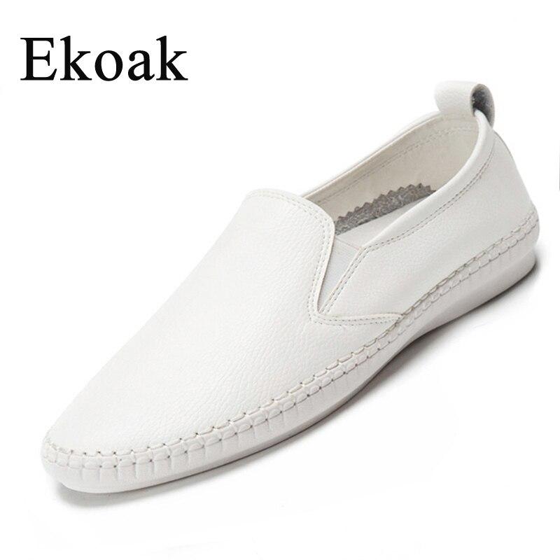 Ekoak Cuero Genuino Tamaño 35-43 Nuevo 2017 de Las Mujeres Clásicas Zapatos Casu
