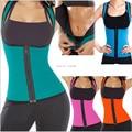 Plus size women sweat enhancing waist corset cincher waist trainer sauna suit vest hot shaper body top