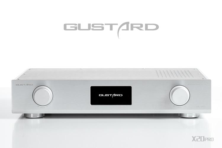 GUSTARD DAC-X20pro HiFi Dual ES9028 PRO + XMOS U8 USB DAC Decoder Support DSD DOP 32BIT-384KHz gustard a20h dual ak4497 xmos usb pcm dsd dop dac decoder and class a full balanced amplifier
