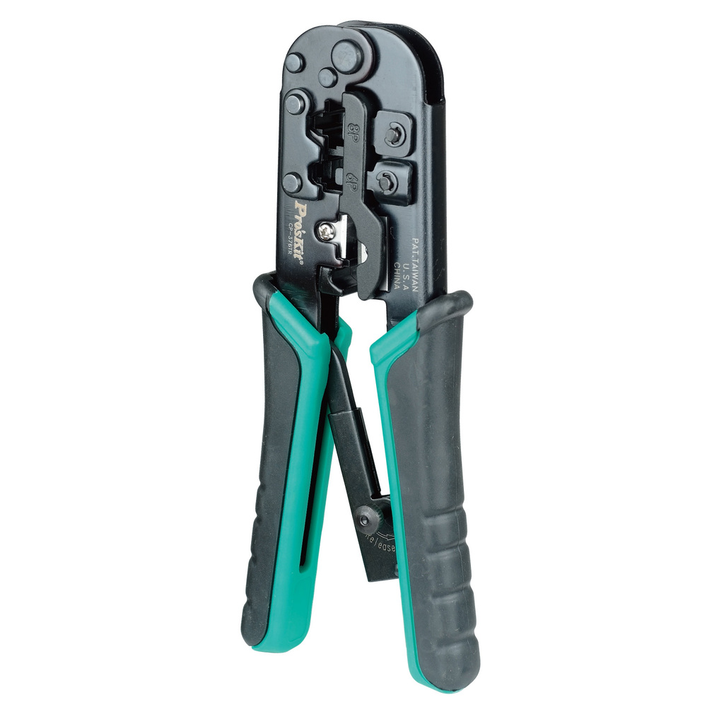 4P/6P/8P telecom crimping tool (190mm) plastic steel cable network crystal head crimping pliers CP-376TR pro skit cp 376m modular crimping tool 225mm 4p 6p 8p ethernet cable crimping plier 3 1 ratchet crimping plier