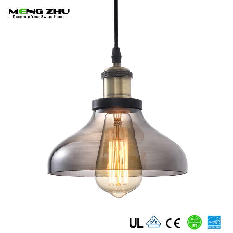 MENGZHU современные винтажные подвесные светильники, Подвесная лампа подвесная в ретро стиле абажур для столовой кухни спальни домашнего освещения 60 Вт