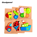 Детей 3d головоломки Высокое качество Бук Деревянные развивающие игрушки для детей головоломки для детей деревянные игрушки