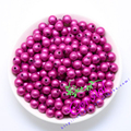 Hot Sell Free Shipping 500pcs/lot,8mm,Chunky Hot Pink Color Miracle Bead, Miracle Beads For Handmade Jewelry