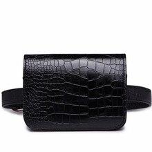 Divat 2017 Női PU Bőr Öv Csomag Táska Női Alligátor Mini Waist Pack Utazópénztárca Ladies Kis Pocket Wallet