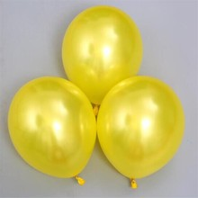 50pcs/lot12 inch 3.2g pearl latex yellow balloon inflatable wedding balloons decorations kids birthday party supplies
