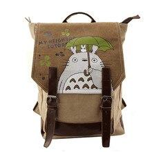 נשים בד תרמיל אנימה השכן Totoro קריקטורה הדפסת תרמילי אופנה נאצאם בנות כתף ילקוט המוצ ילה Feminina