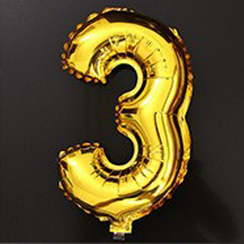 40 inch globos number three balloons party decoration wedding birthday giant large silver gold number foil balloons