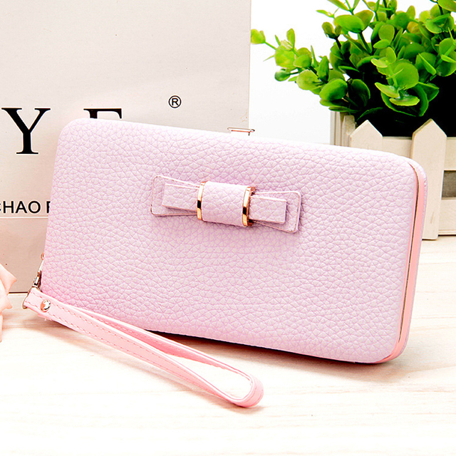 10 colors Purse wallet female famous brand card holders cellphone pocket gifts for women money bag clutch 888 1