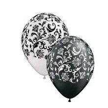 Damask Print Black & White 12 Qualatex 40pcs/lot Latex Balloons Birthday Wedding party Decoration balloons Anniversary