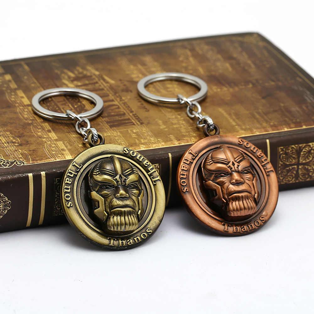 Vengadores Endgame Thanos Infinity Stones llavero Metal 3D movimiento colgante llavero Cosplay Prop regalo para los Fans de los Vengadores