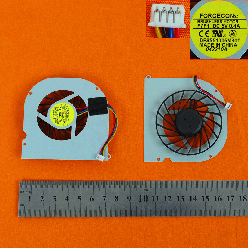 Купить с кэшбэком New Laptop Cooling Fan for ASUS F80 X82 F81 F83 X88(Original) PN:DFS551005M30T UDQFRZH08CCM DFS551305MC0T
