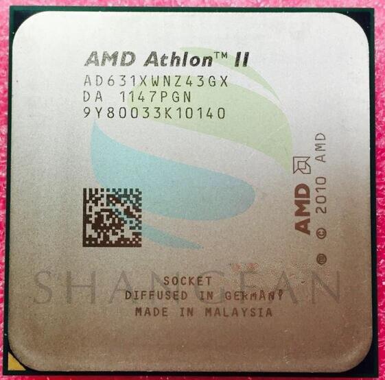 AMD Athlon X4 631 2.6GHz 100W Quad-Core CPU Processor AD631XWNZ43GX Socket FM1/ 905pin