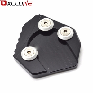 Image 2 - For Yamaha MT09 2013 2015 Motorcycle CNC Aluminum Foot Side Stand Enlarger extension kickstand plate pad