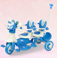 Children Twins Tricycle Baby Double Stroller Bicycle Child Tricycle Three Wheels Trolley Infant Double Strollers Twin Babies 1~6
