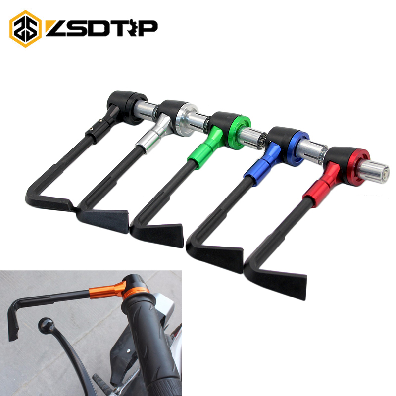 ZSDTRP-CNC Aluminum Motorcycle hand Protect Guard System Brake Clutch Levers Protector Falling Protection For Honda Suzuki KTM
