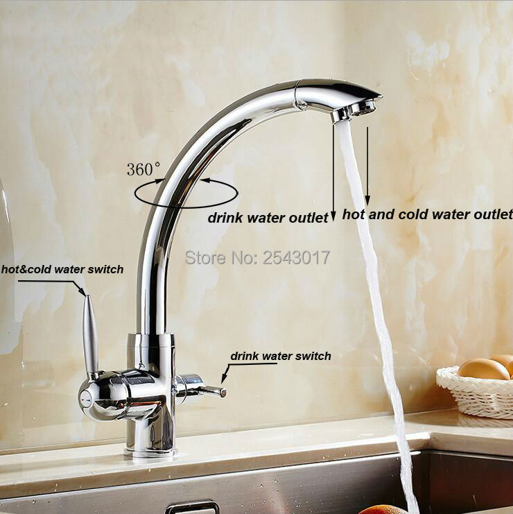 Contempor Basin High Quality Drink Water Faucet Kitchen Swivel Hot And Cold  Filter Water Faucet Luxury