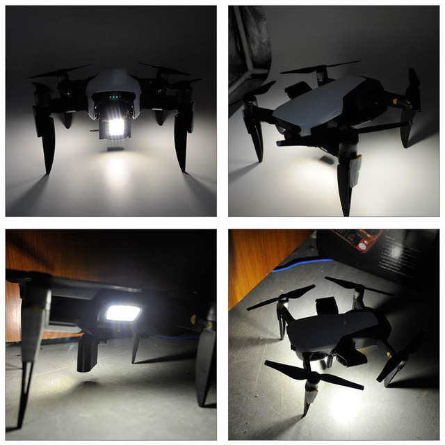 STARTRC DJI Mavic air drone quadcopter with camera extended lanidng gear and LED light kit for DJI Mavic Air