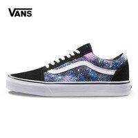 Original New Arrival Vans Men S Women S Old Skool Star Printing Low Top Skateboarding Shoes