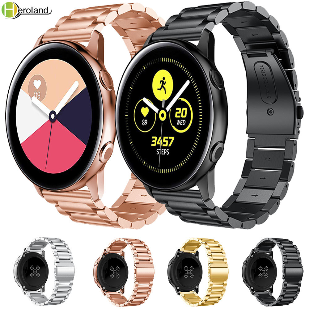 Gear S3 Frontier Watch Strap For Samsung Galaxy Watch Active 46mm 42mm 22mm 20mm Watch Band Stainless Steel Amazfit Bip Straps