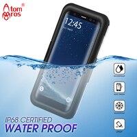 Atombros IP 68 Waterproof Case For Samsung Galaxy S9 S9 Plus Cover Plastic Shockproof Underwater Swiming