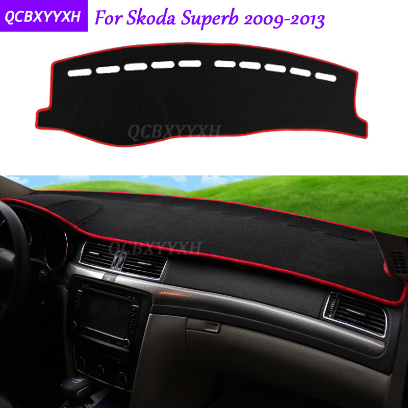 For Skoda Superb 2009-2013 Dashboard Mat Protective Interior Photophobism Pad Shade Cushion Car Styling Auto Accessories