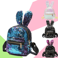 HOT Sale Fashion Women Girls Backpack School Bags Polyester Sequin Material High Quality Printing Backpacks zipper стоимость