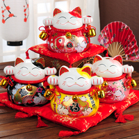 2016 New Arrival Ceramic Piggy Bank Crafts Japan Ornaments Lucky Cat Fortune Cat Opening Promotion Wedding