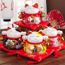 Japanese Lucky Piggy Bank Cat Craft Ceramic Cat Coin Safe Money Box Home Decoration Gift