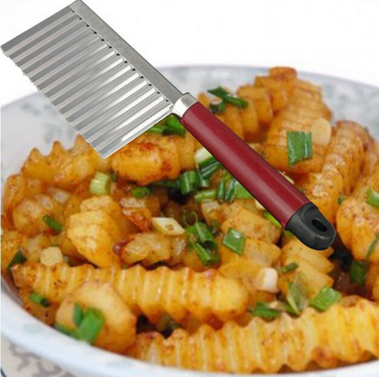 De pommes de terre Ondulés Tranchant Couteau En Acier Inoxydable Cuisine Gadget Légumes Fruits De Coupe Cuisine Éplucheur Outils couteaux de cuisine Accessoires