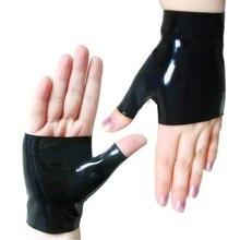 Sexy Rubber Secrets Latex Short Wrist Mitten Fingerless Gloves
