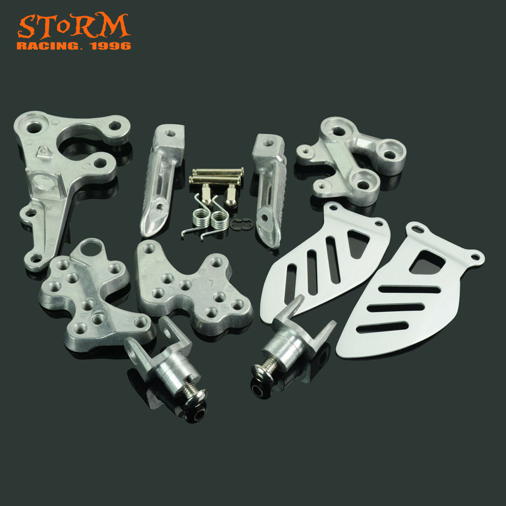 Front Footpegs Foot Pegs Footrest Pedals Bracket For SUZUKI GSXR1000 GSX R1000 GSX1000R 2005 2006 2007 2008 2009 2010 2011-in Foot Rests from Automobiles & Motorcycles    2