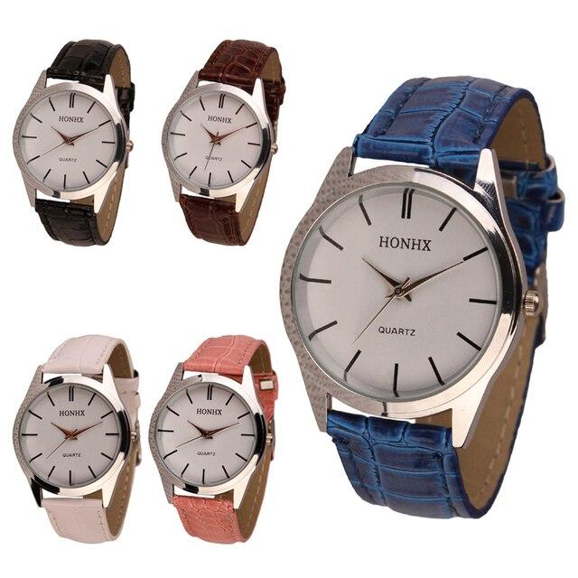 Womens Mens Ladies Quartz Dress Bracelet Wrist Watch Leather Brand Roman Numeral