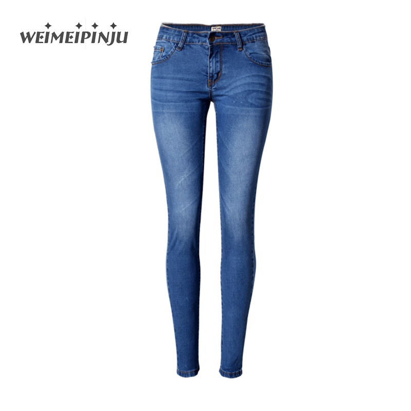 Jeans For Women Autumn Slim Push Up Low Waist Jeans Skinny Pencil Denim Pants Casual Trousers Stretch Big Size New Female Jeans 2017 new skinny jeans lady jeans pants blue low waist slim pencil pants denim jeans women trousers size 5xl free shipping