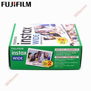 Image 2 - ブランド新しい富士インスタックスワイドフィルム無地エッジツインパック (20 写真) インスタント写真カメラインスタックス 200 210 送料無料