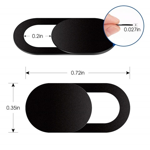 6 PCS Ultra Thin WebCam Cover Shutter Magnet Slider Plastic Camera Cover for IPhone PC Laptops Mobile Phone Lens Privacy Sticker Lahore