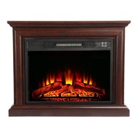 Черный тепла Powered камин журнал горящее пламя эффект электрическая плита эко Ультра тихий вентилятор деревянный шкаф напольный вентилятор н
