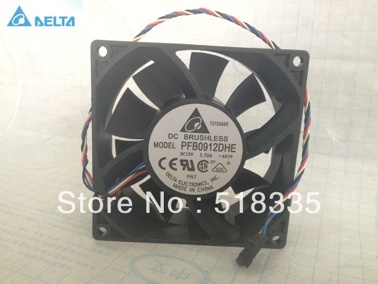 DELTA PFB0912DHE 9cm 9.2CM 9038 9238 92*92*38MM 90*90*38MM 12V 3.72a cpu cooler heatsink axial Cooling Fan nmb new and original fba09a12m 9025 9cm 12v 0 2a chassis silent cooling fan 90 90 25mm