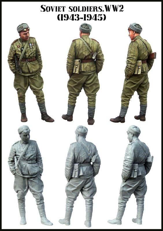 [tuskmodel] 1 35 Scale Resin Model Figures Kit E152