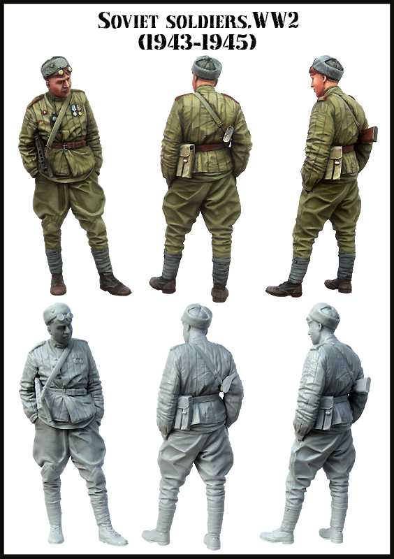 [Tuskmodel] 1 35 escala kit modelo de resina figuras E152