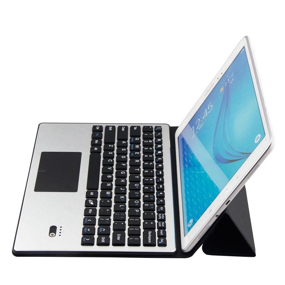 Pour Samsung Galaxy Tab S5e 10.5 T720 T725 amovible en aluminium Bluetooth Touchpad clavier russe + étui mince en cuir PU - 3