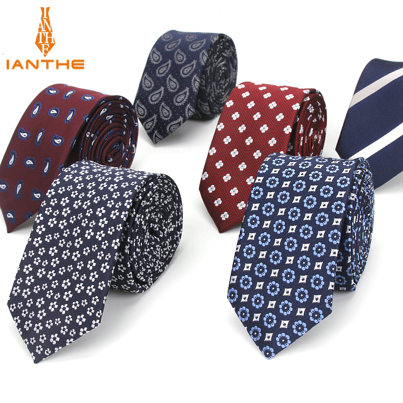 2018 Brand New 6cm Men's Paisley Tie For Men Fashion Stipe Neckties Man's Neck Ties For Wedding Business Plaid Dot Corbatas