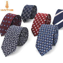 2018 Brand New 6cm Men's Paisley Tie For Men Fashion Stipe Neckties Man's Neck Ties For Wedding Business Plaid Dot Corbatas(China)
