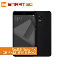 Original Xiaomi Redmi Note 4X Mobile Phone 5.5″ FHD 4GB RAM 64GB ROM  MTK Helio X20 Deca Core 13.0MP Camera Fingerprint ID