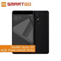 Original Xiaomi Redmi Note 4X Mobile Phone 5 5 FHD 4GB RAM 64GB ROM MTK Helio