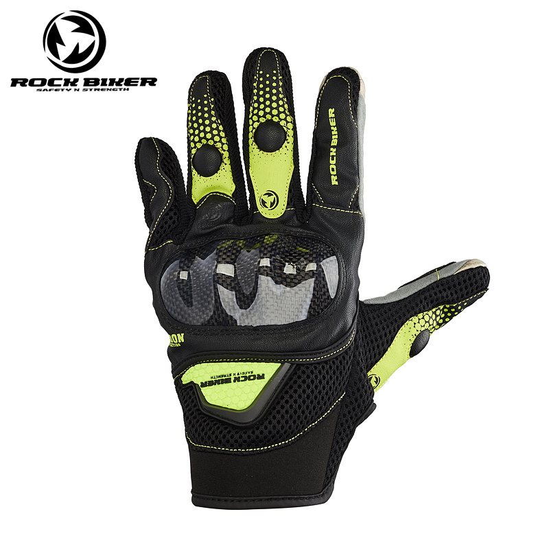 ROCK BIKER Leather Motorbike glove Motorcycle racing glove Touch Screen Breathable Summer BMX ATV MX Off Road Motocross glove
